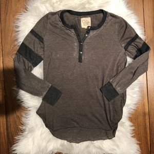 Chaser Blocked Jersey Henley Top